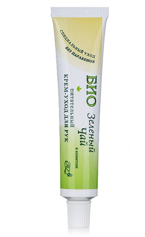 Bio cream for hands and nails with green tea extract Rosa Impex