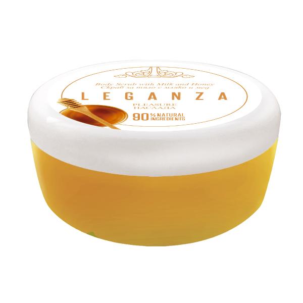 Скраб за тяло с мед и мляко Leganza Rosa Impex