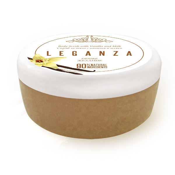 Body scrub with vanilla and milk Leganza Rosa Impex