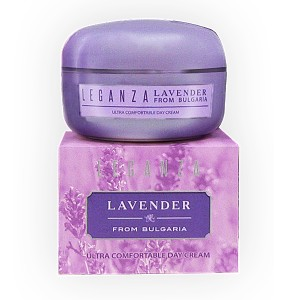 Ultra-comforting day face cream with lavender oil Leganza Rosa Impex