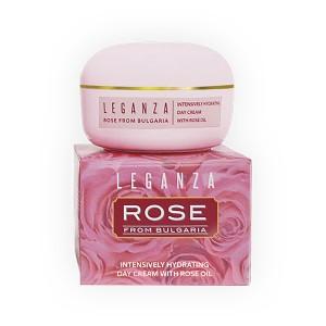 Интензивен овлажняващ крем за лице с розово масло Leganza Rosa Impex