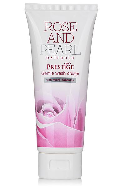 Delicate facial washing cream VIP's Prestige Rose & Pearl Rosa Impex