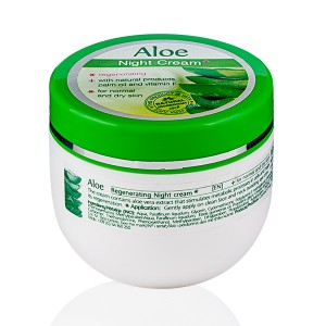 Restoring night face cream with aloe vera extracts Rosa Impex
