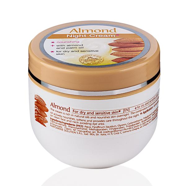 Nourishing night face cream Almond Rosa Impex