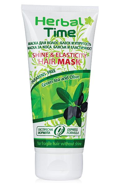 Маска за коса с маслина и зелен чай Herbal Time Rosa Impex