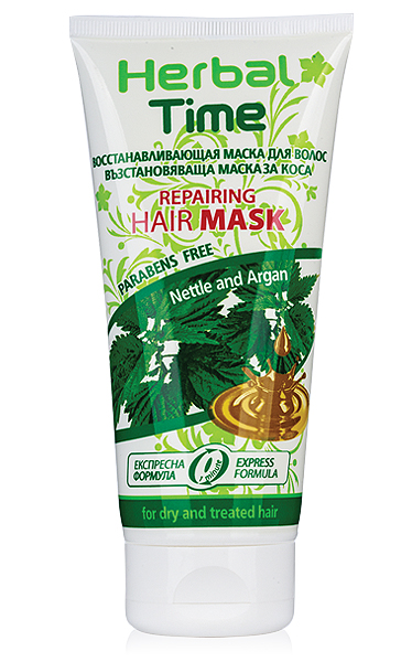 Restoring hair mask with nettle and argan oil Herbal Time Rosa Impex