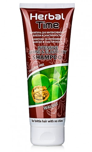 Shampoo for intense shine and elasticity Herbal Time Rosa Impex