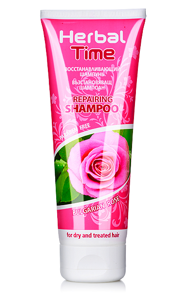 Hair shampoo with Bulgarian rose extract Herbal Time Rosa Impex