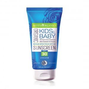 Био органичен слънцезащитен крем Kids & Baby SPF 30 Alteya Organics