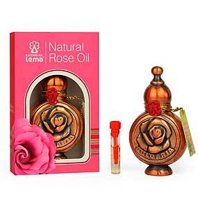 Natural Bulgarian rose oil in a copper souvenier Lema 0.5 ml.