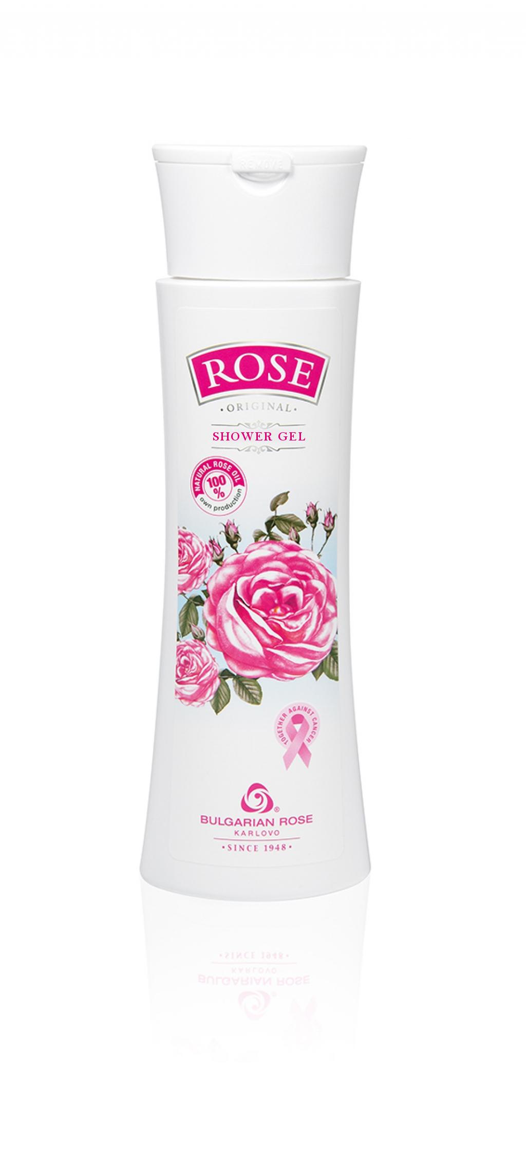Деликатен душ гел с натурално розово масло Българска Роза Карлово