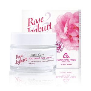 Soothing face cream with rose oil and yoghurt Rose & Joghurt Bulgarian Rose Karlovo