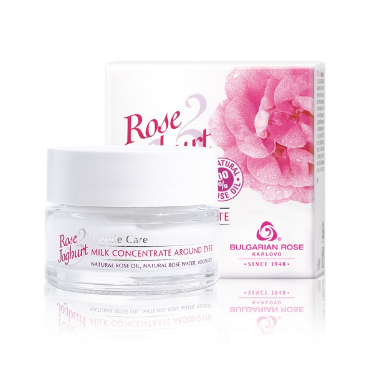 Milk concentrate for the area around the eyes Rose & Joghurt Bulgarian Rose Karlovo