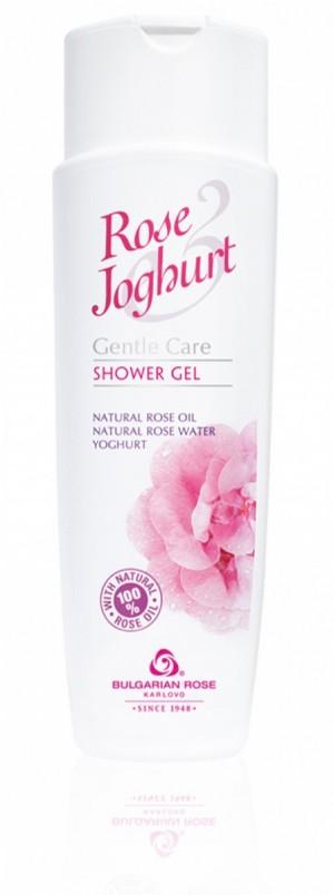 Деликатен душ гел с розово масло и йогурт Rose & Joghurt Българска Роза Карлово