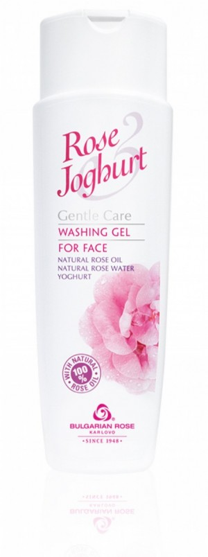 Измиващ гел за лице с розово масло и йогурт Rose & Joghurt Българска Роза Карлово