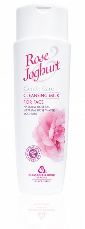 Gentle facial cleansing milk with rose oil and yoghurt Rose & Yoghurt Bulgarian Rose Karlovo