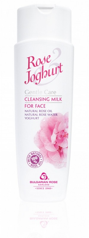 Почистващо мляко за лице с розово масло и йогурт Rose & Joghurt Българска Роза Карлово