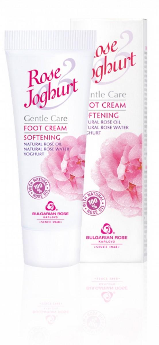 Омекотяващ крем за крака с розово масло и йогурт Rose & Joghurt Българска Роза Карлово