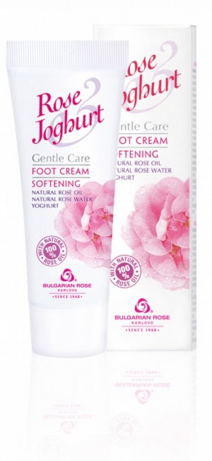 Softening foot cream with rose oil and yoghurt Rose & Joghurt Bulgarian Rose Karlovo