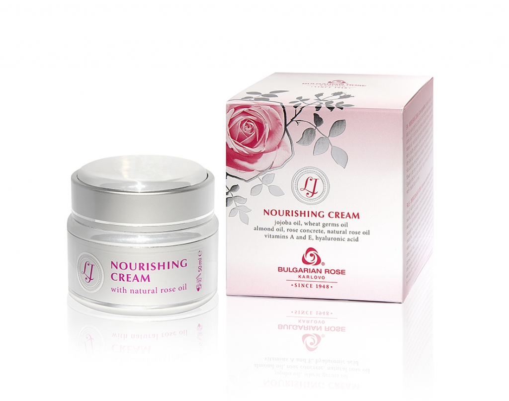 Nourishing face cream with rose oil LJ Bulgarian Rose Karlovo 50 ml.