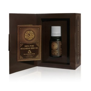 Natural rose oil in a carton box Bulgarian Rose Karlovo