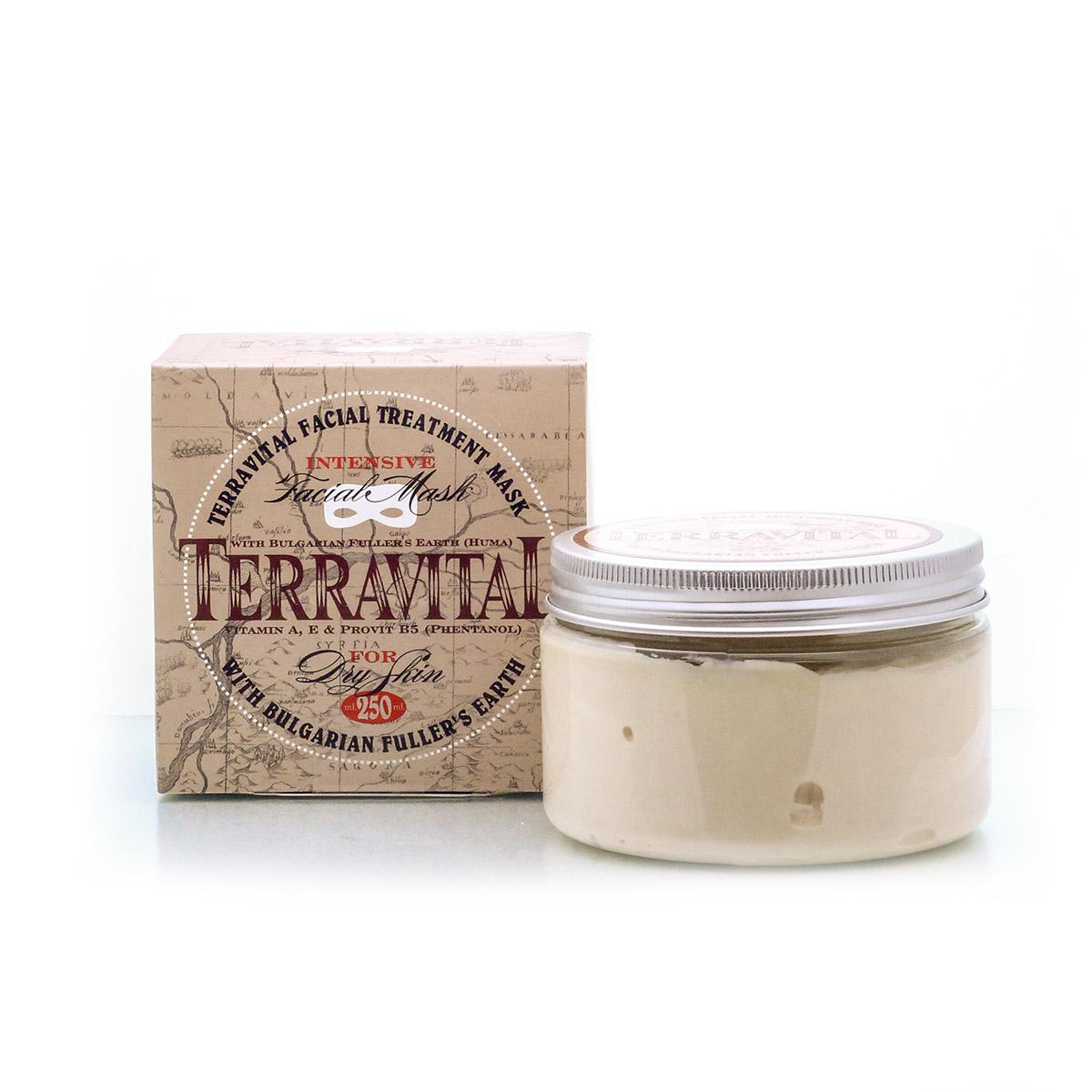 Fuller's earth face mask for dry skin Terravital Avia