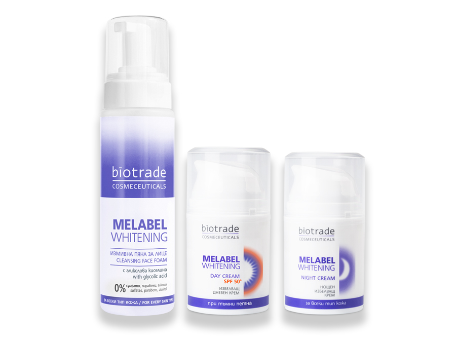 "Whitening set ""3 steps against spots"" Melabel Whitening Biotrade"