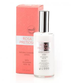 Natural cleansing lotion for face and neck Rosa Pretiosa Natural Cosmetic