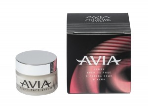 Nourishing night face cream with brown Fuller's earth and natural rose water Avia