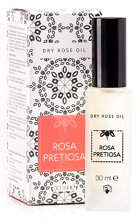 Dry rose oil for face, hair and body Rosa Pretiosa Natural Cosmetic