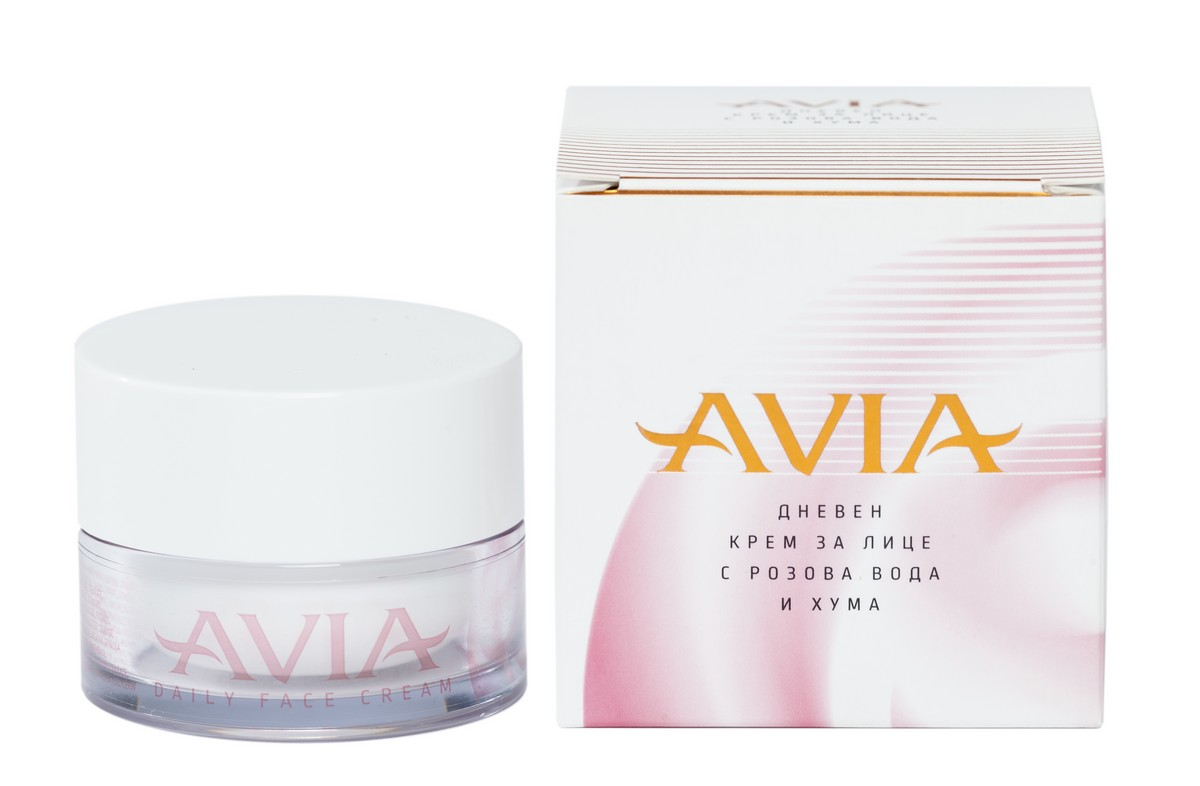 Hydrating day face cream with natural Fuller's earth and rose water Avia