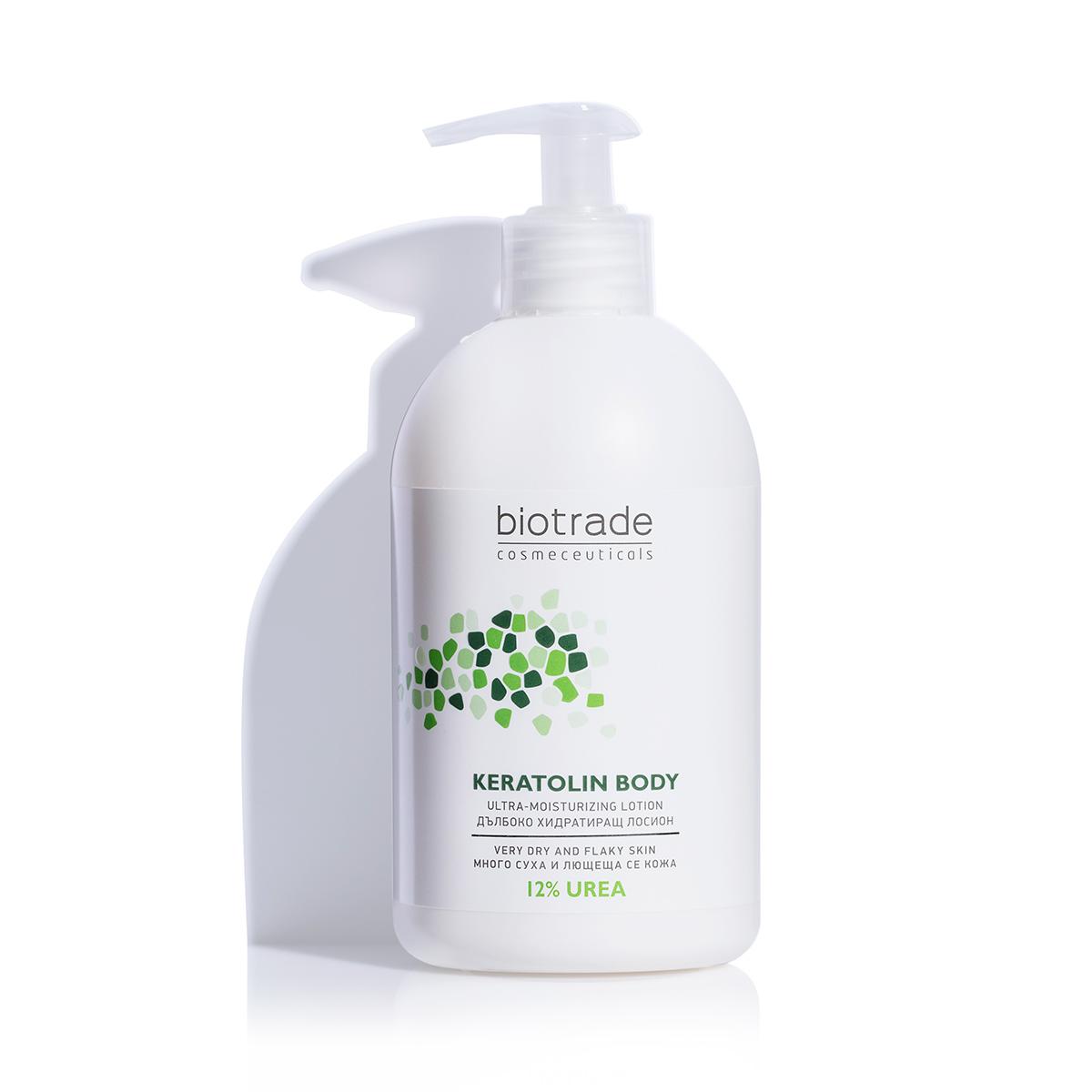 Овлажняващ лосион за тяло с 12% уреа Keratolin Body Biotrade