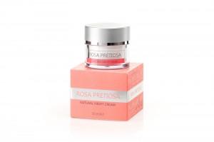 Натурален нощен крем за лице Rosa Pretiosa Natural Cosmetic