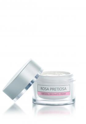 Organic decollete cream Rosa Pretiosa Natural Cosmetic