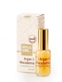 Озаряващ елексир за лице Argan & Macadamia Natural Cosmetic
