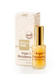 Озаряващ елексир за лице Argan & Macadamia Natural Cosmetic