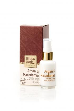 Organic serum for face with lifting effect Argan & Macadamia Natural Cosmetic