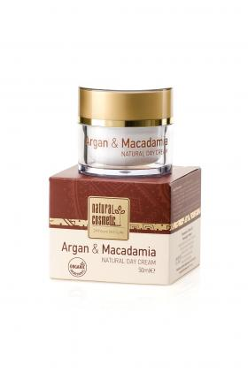 Натурален дневен крем за лице Argan & Macadamia Natural Cosmetic