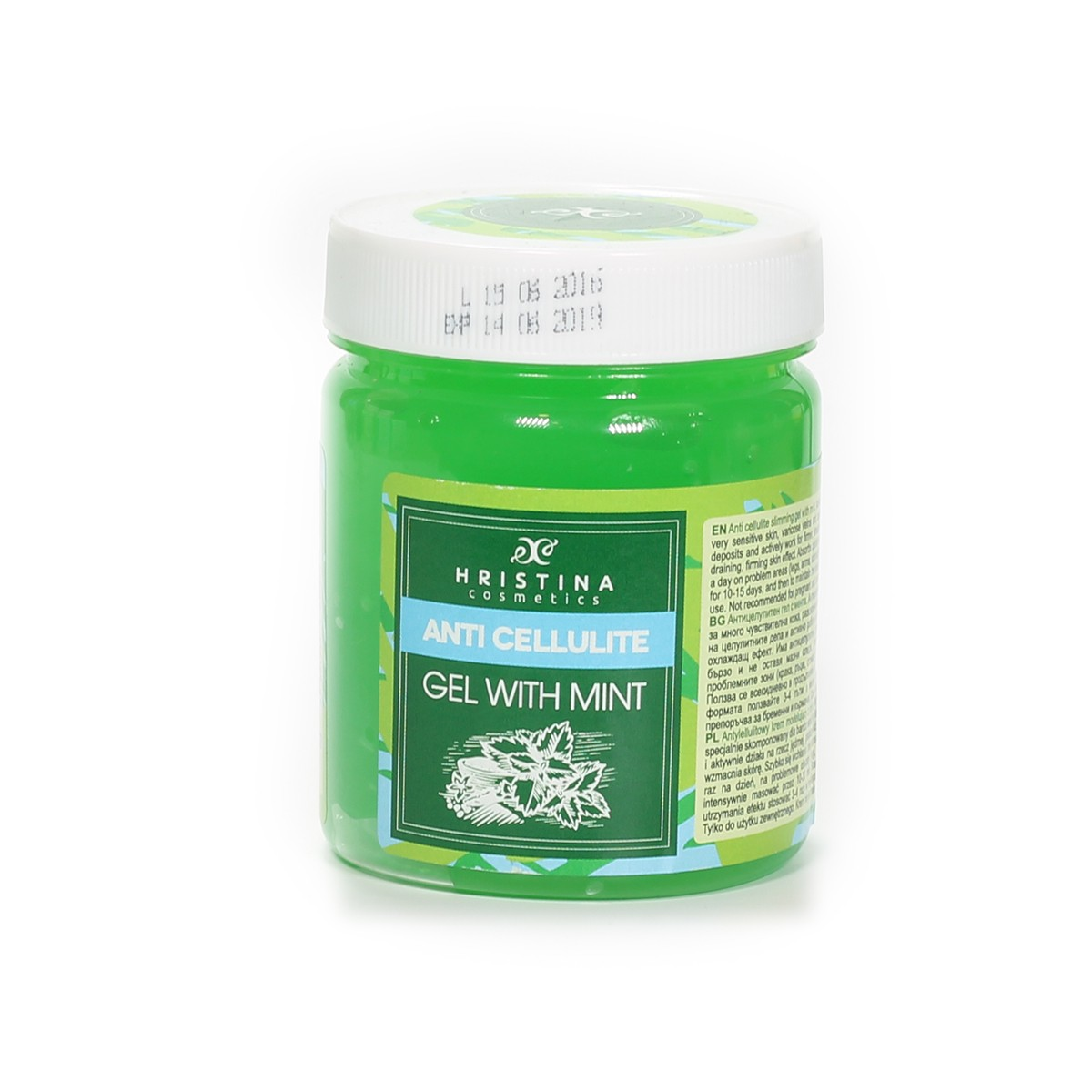 Anti-cellulite gel with mint by Hristina