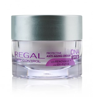 Protective anti-wrinke face cream with RENOVAGE™ and UV-filter Regal Age Control DNA Rosa Impex